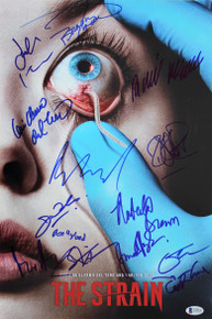 The Strain (14) Del Toro, Brown, Downes Hyland Signed 12x18 Photo BAS #A75747