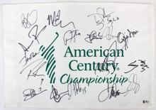 American Century (17) Romo, Rice, Bettis, Pederson Signed Pin Flag BAS #A88337
