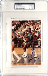 Clippers Derek Smith Authentic Signed 4x6 Photo PSA/DNA Slabbed