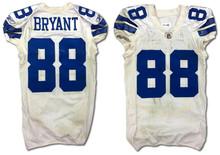 Cowboys Dez Bryant Game Worn White Reebok Road Jersey 12/4/2011 Photo Matched