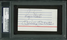 Yankees Mickey Mantle & Roger Maris Signed 2.25x4.15 Cut Signature PSA Slabbed