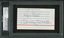 Yankees Mickey Mantle & Roger Maris Signed 2.25x4.15 Cut Signature PSA Slabbed