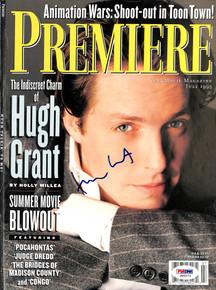 Hugh Grant Authentic Signed 8x11 Premiere Magazine Cover PSA/DNA #J00273