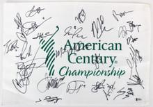 American Century (24) Goff, Webber, Davis, Allen Signed Pin Flag BAS #A88333