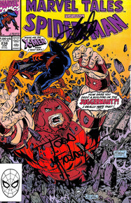Stan Lee & Todd McFarlane Signed Marvel Tales Spider-Man #238 Comic BAS #E35336