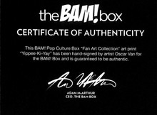 Oscar Van Authentic Signed 8x10 Die Hard Art Print Photo COA BAM BOX #586/2000