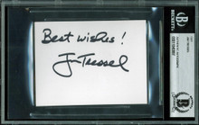 "Ohio State Jim Tressel ""Best Wishes"" Signed 3x4 Cut Signature BAS Slabbed 2"