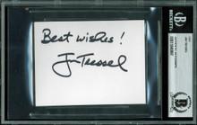 "Ohio State Jim Tressel ""Best Wishes"" Signed 3x4 Cut Signature BAS Slabbed 2"