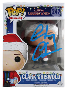 Chevy Chase Christmas Vacation Signed Funko Pop Figure w/ Blue Sig BAS Witnessed