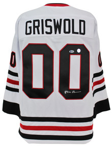 Chevy Chase Christmas Vacation Signed Santa Clark Griswold Jersey BAS #M54316