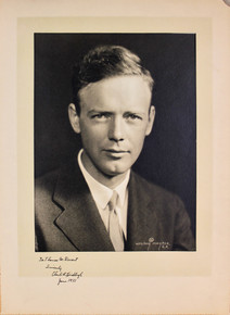 "Charles Lindbergh ""June 1933"" Authentic Signed 8x10 Matted Photo PSA/DNA #Q07605"