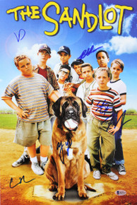 The Sandlot (6) Guiry, Leopardi, Adams +3 Signed 12x18 Photo BAS Witnessed 2
