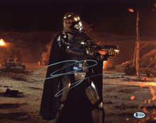 Gwendoline Christie Star Wars The Force Awakens Signed 11x14 Photo BAS #G22358