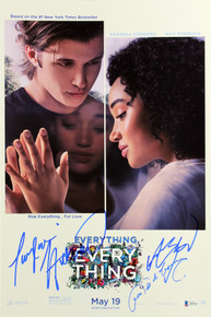Everything, Everything (3) Stenberg, Reguera & Hickson Signed 12x18 Poster BAS