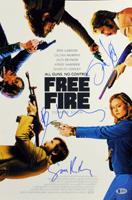 Free Fire (4) Hammer, Copley +2 Signed 12x18 Mini Movie Poster BAS  #A85195