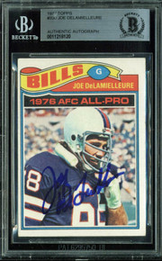 Bills Joe DeLamielleure Authentic Signed 1977 Topps #330 Auto Card BAS Slabbed
