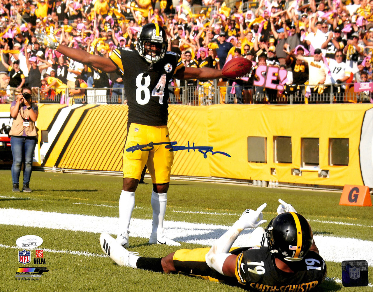 info for c9b94 6de9b Steelers Antonio Brown Authentic Signed 11x14 Photo JSA Witnessed