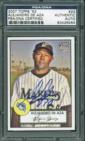 Alejandro De Aza Authentic Signed Card 2007 Topps '52 Rookie #23 PSA/DNA Slabbed