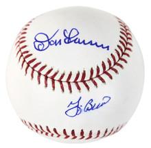 Yankees Yogi Berra & Don Larsen Authentic Signed Oml Baseball MLB #FJ839038