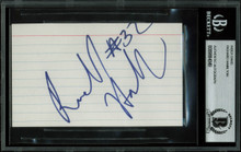 Pistons Richard Hamilton Authentic Signed 3x5 Index Card BAS Slabbed #9884049