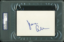 Joan Allen Authentic Signed 4X6 Index Card Autographed PSA/DNA Slabbed 2