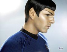 Zachary Quinto Star Trek Authentic Signed 11x14 Photo Autographed BAS #H14400