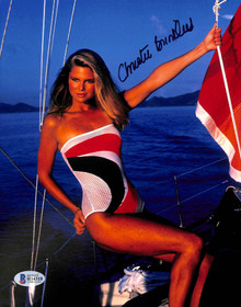 Christie Brinkley Sports Illustrated Swimsuit Model Signed 8x10 Photo BAS H14318