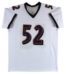 Ravens Ray Lewis Authentic Signed White Jersey Autographed PSA/DNA ITP