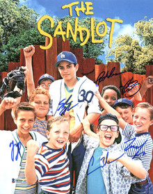The Sandlot (6) Guiry, Leopardi, Adams +3 Signed 11x14 Photo BAS Witnessed 2