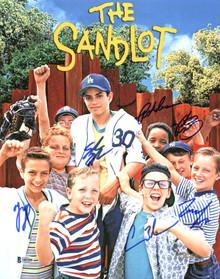 The Sandlot (6) Guiry, Leopardi, Adams +3 Signed 11x14 Photo BAS Witnessed 2