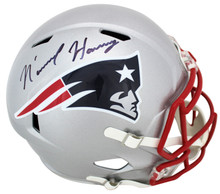 Patriots N'Keal Harry Authentic Signed Full Size Speed Rep Helmet BAS Witnessed