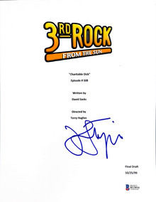 John Lithgow Authentic Signed 3rd Rock From The Sun TV Script Cover BAS #H13016