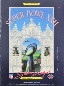 Super Bowl XXII Washington Redskins VS. Denver Broncos Official Game Program