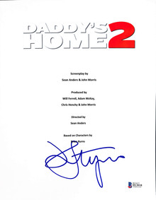 John Lithgow Authentic Signed Daddy's Home 2 Movie Script Cover BAS #H13018