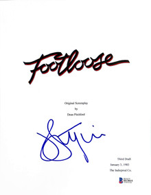 John Lithgow Authentic Signed Footloose Script Cover Autographed BAS #H13015