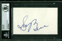 Blazers Sam Bowie Authentic Signed 3x5 Index Card Autographed BAS Slabbed