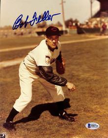 Indians Bob Feller Authentic Signed 8x10 Photo Autographed BAS 2