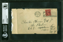 Al Simmons 3.5x6.5 Hand Written Envelope Postmarked June 4 1930 BAS Slabbed