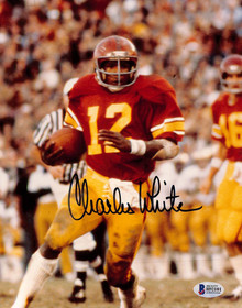 USC Trojans Charles White Authentic Signed 8x10 Photo Autographed BAS