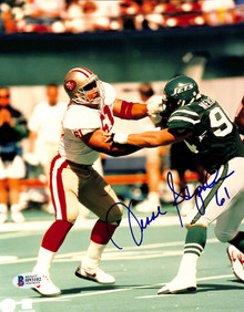 49ers Jesse Sapolu Authentic Signed 8x10 Photo versus Jets Autographed BAS