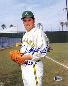 "Athletics Jim Catfish Hunter ""HOF 87"" Authentic Signed 8x10 Photo BAS #H86678"
