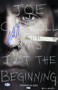 Kevin Bacon & Shawn Ashmore The Following Signed 11x17 Photo BAS #H44833