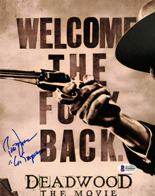 "Peter Jason Deadwood ""Con Stapleton"" Authentic Signed 8x10 Photo BAS #H44844"