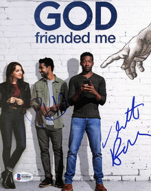 Brandon Michael Hall & Violett Beane God Friended Me Signed 8x10 Photo BASH44842