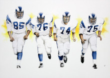 Rams 16x20 Fearsome Foursome Framed Lithograph Un-signed 2