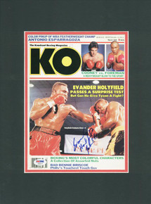Evander Holyfield Full Name Signature Signed & Matted Magazine Cover PSA #T69477