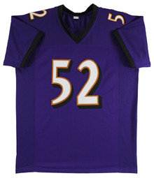 Ray Lewis Authentic Signed Purple Pro Style Jersey PSA, JSA or BAS Witnessed