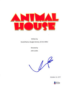 Kevin Bacon Authentic Signed Animal House Movie Script Cover BAS #H13280
