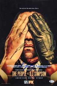 The People V. O.J. Simpson (3) Travolta Signed 12x18 Mini Movie Poster BAS