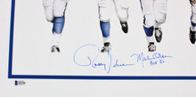 Rams Fearsome Foursome Signed Lithograph LE A/P #'d to 195 & 8x10 Photo Lot BAS